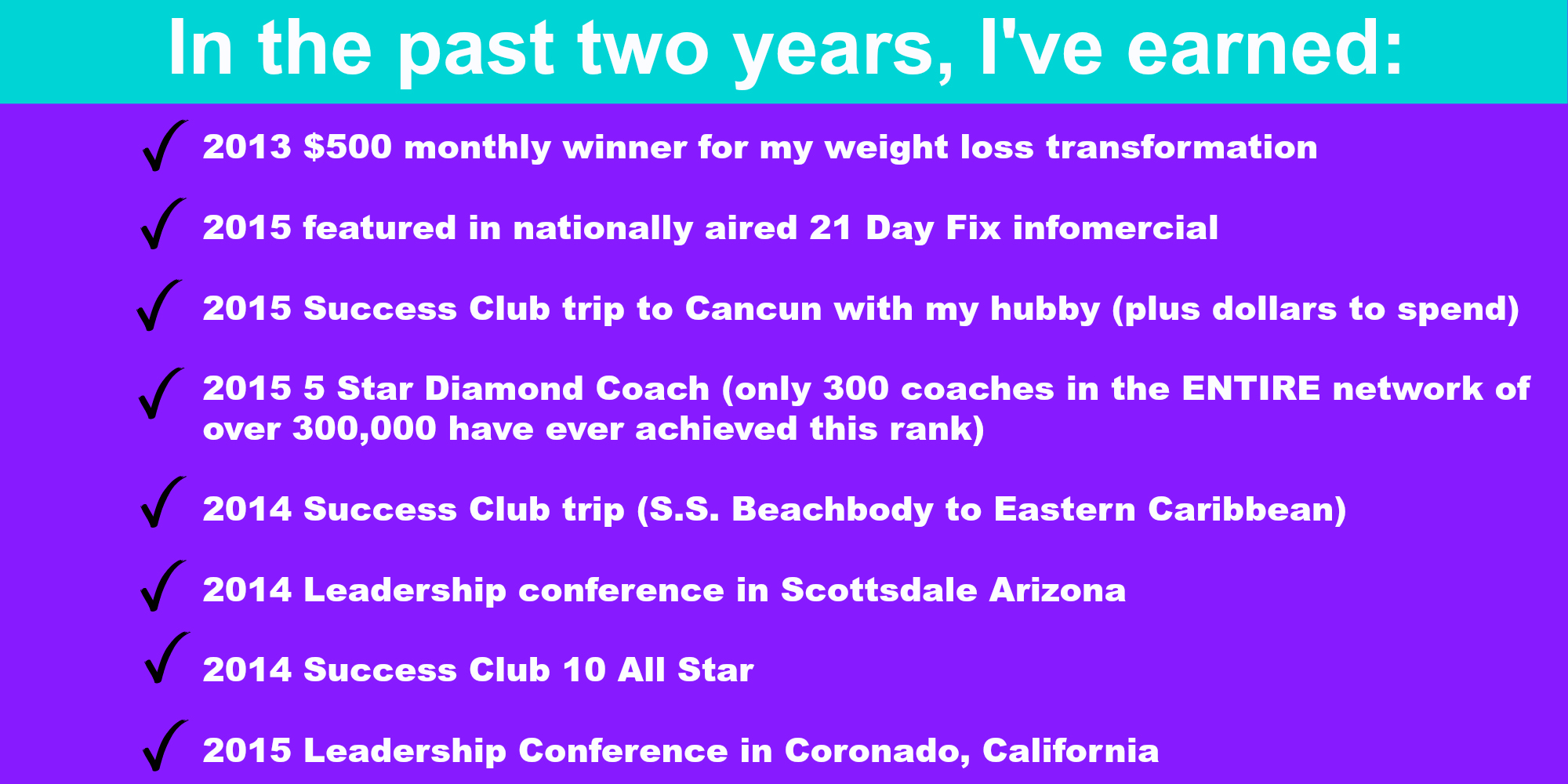 in the past two years I've earned