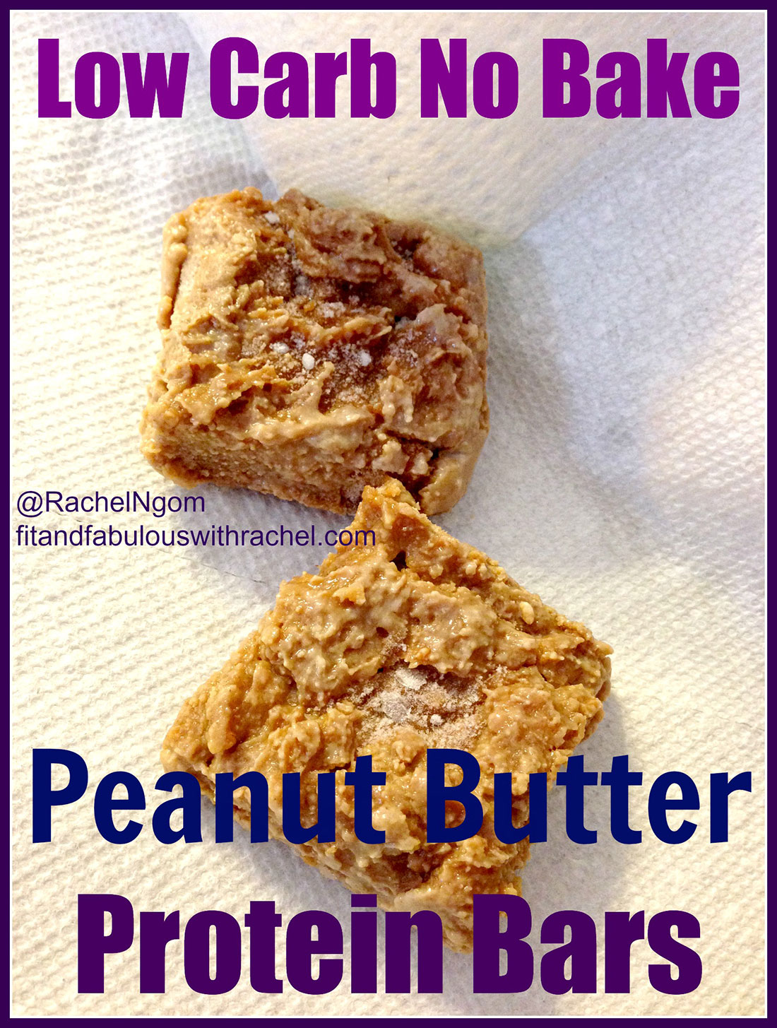 Low Carb Peanut Butter Protein Bars