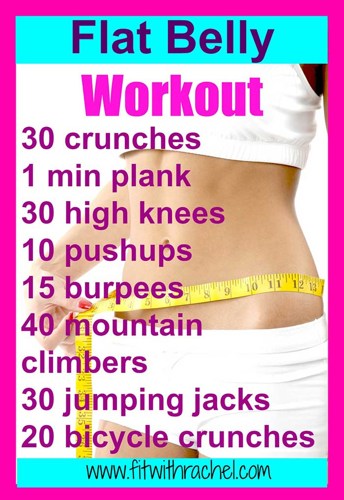 Flat Belly Workout | Fit with Rachel