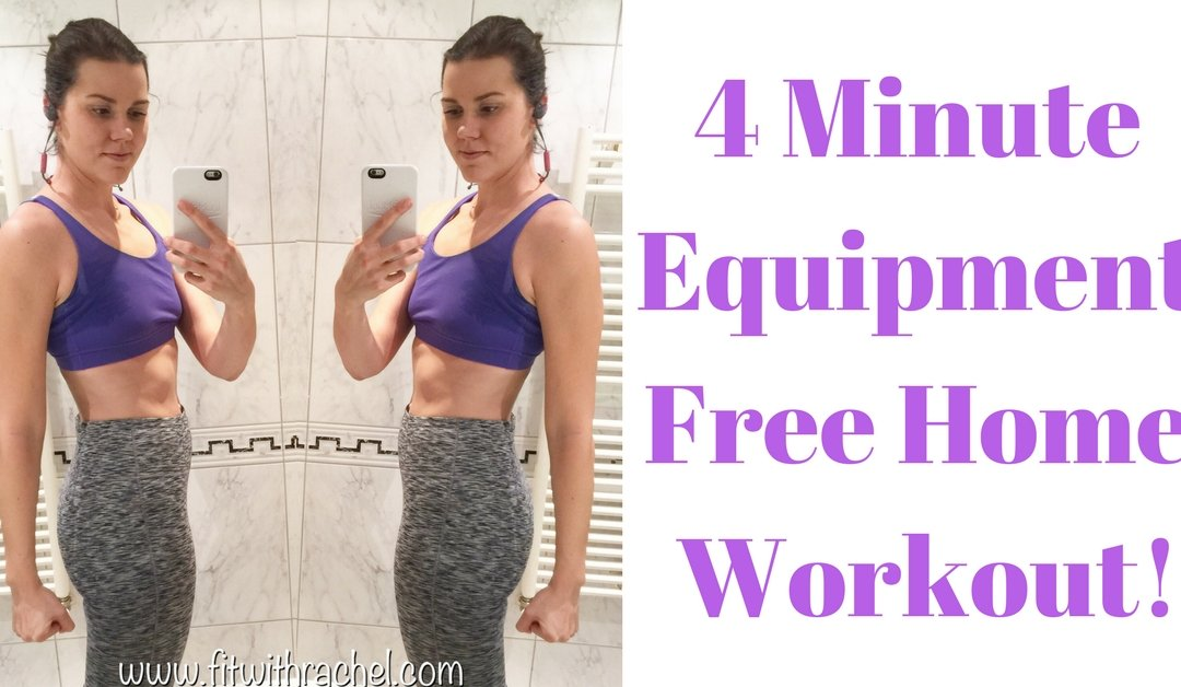 4 Minute Home Tabata Workout (No Equipment!)