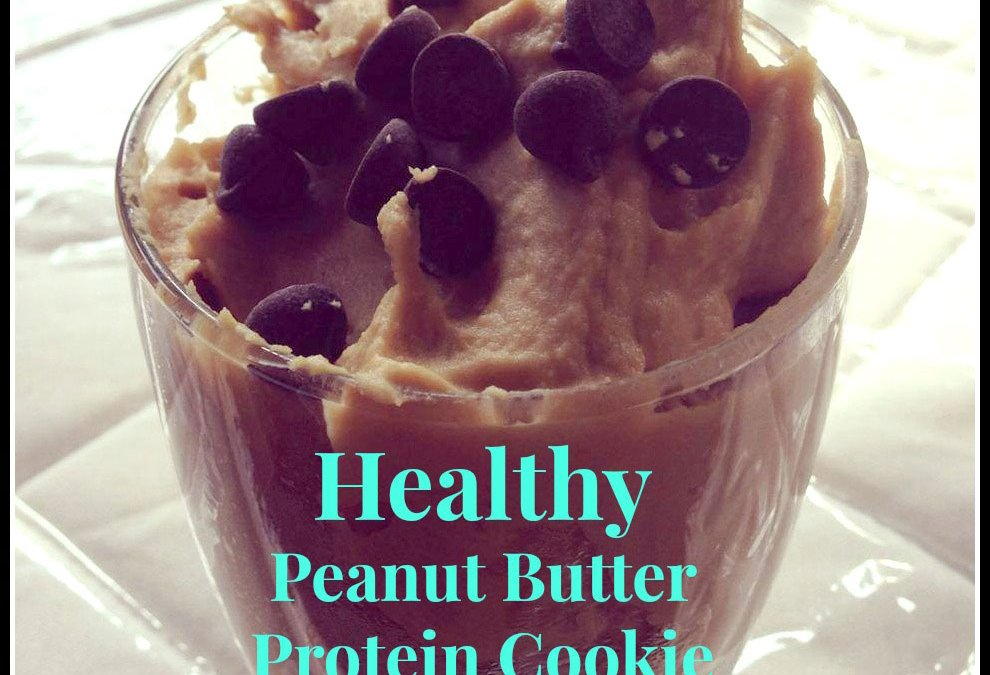 Healthy Peanut Butter Protein Cookie Dough
